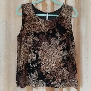 Beautiful women's sleeveless top, sz XL